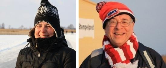 IMS met muts en de burgemeester van Oost-Gelre (ook met muts)