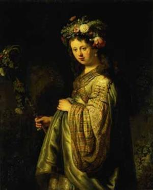 Rembrandt - Saskia als Flora